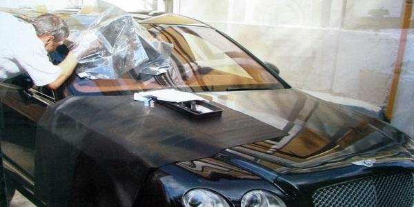 Ремонт сколов и трещин лобового стекла с выездом к клиенту